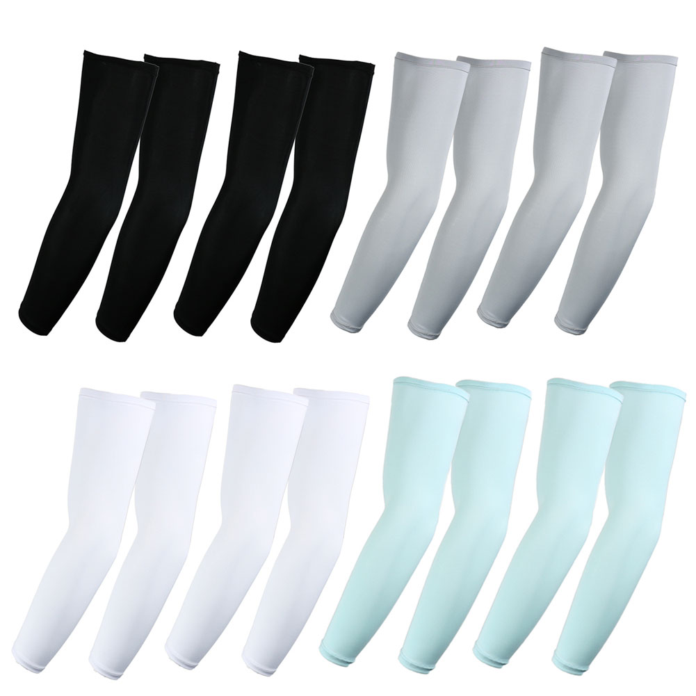 f853b5c721 Details about Elixir Golf Pack of 8, Assorted UV Protective Sun Block Compression  Arm Sleeves